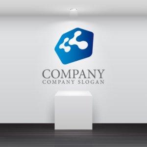 画像2: く・拡大・上昇・六角形・ロゴ・マークデザイン181