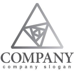 画像1: 三角・回転・輝き・グラデーション・ロゴ・マークデザイン290
