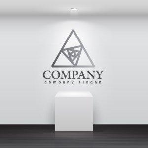 画像2: 三角・回転・輝き・グラデーション・ロゴ・マークデザイン290