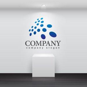 画像2: 点・集合・広がり・グラデーション・ロゴ・マークデザイン293