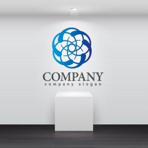 画像2: 輝き・輪・花・グラデーション・ロゴ・マークデザイン298