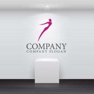 画像2: ダイエット・上昇・人・曲線・ロゴ・マークデザイン601