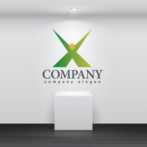 画像2: 人・X・喜び・輝き・グラデーション・ロゴ・マークデザイン712
