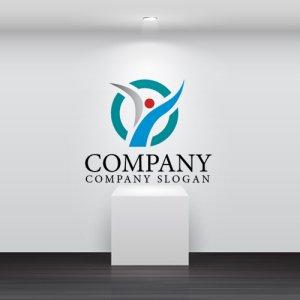 画像2: 人・Y・曲線・輪・上昇・成長・ロゴ・マークデザイン717