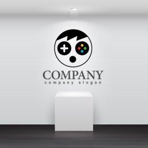 画像2: 顔・人・ゲーム・コントローラー・ロゴ・マークデザイン758
