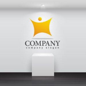 画像2: 人・輝き・グラデーション・ロゴ・マークデザイン840