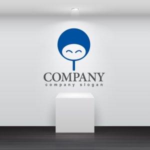 画像2: 人・団扇・顔・ロゴ・マークデザイン920