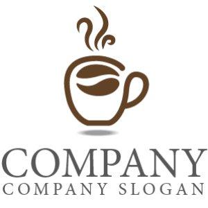 画像1: カップ・コーヒー・豆・休憩・ロゴ・マークデザイン037