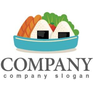 画像1: お弁当・ おにぎり・ ソーセージ・サラダ・ロゴ・マークデザイン051