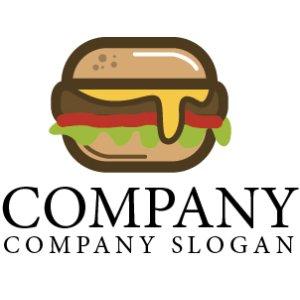 画像1: ハンバーガー・ パン・ロゴ・マークデザイン055