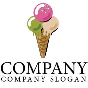 画像1: アイスクリーム・おやつ・ロゴ・マークデザイン061