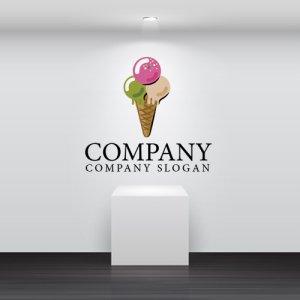 画像2: アイスクリーム・おやつ・ロゴ・マークデザイン061