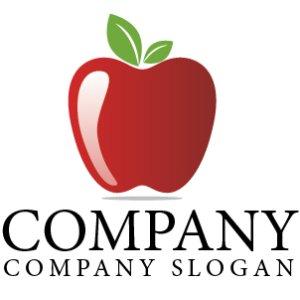 画像1:  果物・フルーツ・りんご・ロゴ・マークデザイン064