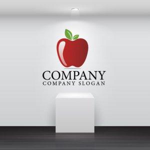 画像2:  果物・フルーツ・りんご・ロゴ・マークデザイン064