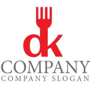 画像1: フォーク・o・k・ロゴ・マークデザイン118