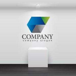 画像2: 六角形・折り紙・くちばし・グラデーション・ロゴ・マークデザイン301