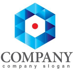 画像1: 六角形・細胞・結晶・グラデーション・ロゴ・マークデザイン382