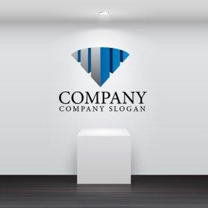 画像2: 街・ダイヤモンド・扇・ビル・グラデーション・ロゴ・マークデザイン615