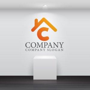 画像2: 家・C・屋根・アルファベット・ロゴ・マークデザイン688