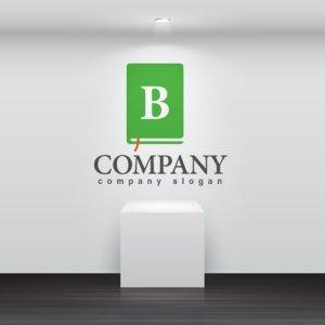 画像2: 本・B・アルファベット・ロゴ・マークデザイン050