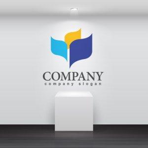 画像2: 本・旗・曲線・ロゴ・マークデザイン052