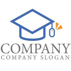 画像1: 学生帽・マウス・卒業・ロゴ・マークデザイン073