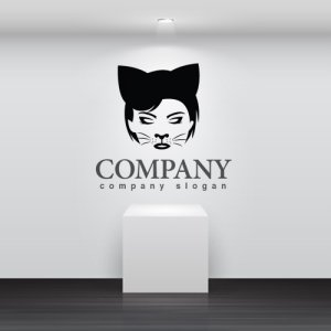 画像2: 顔・似顔絵・猫・耳・ロゴ・マークデザインKO767