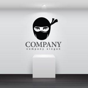 画像2: 顔・似顔絵・覆面・忍者・ロゴ・マークデザインKO770