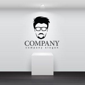 画像2: 顔・似顔絵・髭・メガネ・ロゴ・マークデザインKO776