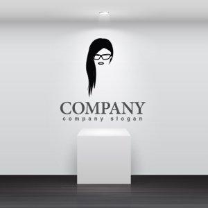 画像2: 顔・似顔絵・メガネ・長髪・ロゴ・マークデザインKO788