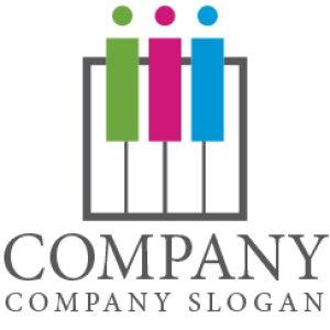 画像1: ピアノ・オルガン・鍵盤・ロゴ・マークデザイン010