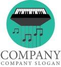 ピアノ・音符・線・ロゴマークデザイン012