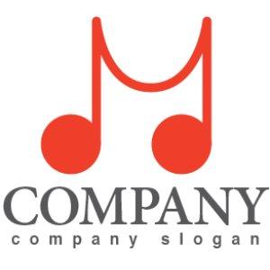 画像1: M・音符・線・アルファベット・ロゴ・マークデザイン017