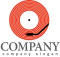 レコード・ステレオ・ロゴ・マークデザイン019