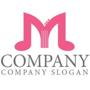 画像1: M・音符・楽器・ロゴ・マークデザイン025