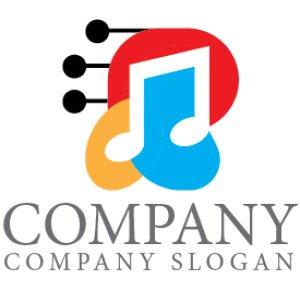 画像1: 音符・弦・楽器・ロゴ・マークデザイン027
