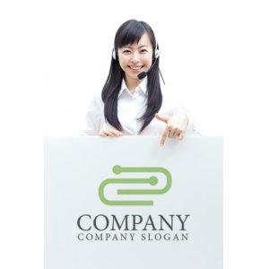 画像3: クリップ・つながり・人ロゴ・マークデザイン103