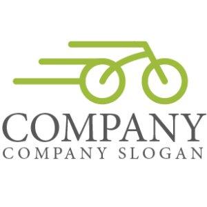 画像1: 自転車・スピード・ロゴ・マークデザイン129