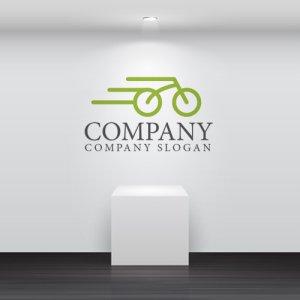 画像2: 自転車・スピード・ロゴ・マークデザイン129