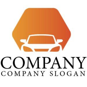 画像1: 自動車・六角形・グラデーション・ロゴ・マークデザイン173