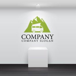 画像2: キャンピングカー・山・車・旅行・ロゴ・マークデザイン174