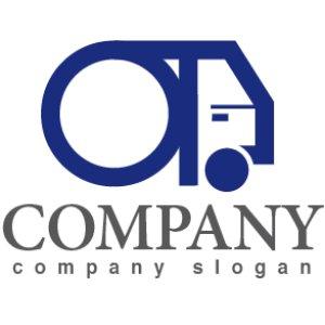 画像1: 輪・トラック・運送・O・ロゴ・マークデザイン196