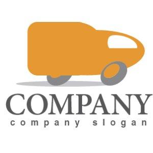 画像1: トラック・運送・配送・ロゴ・マークデザイン198