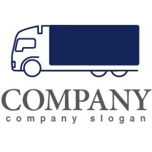 画像1: 輪・トラック・運送・貨物・ロゴ・マークデザイン200