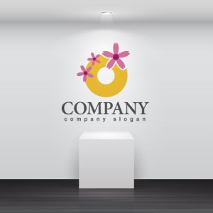 画像2: 花・輪・芝桜・ロゴ・マークデザイン657
