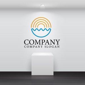 画像2: 輪・海・波・太陽・線画・ロゴ・マークデザイン679