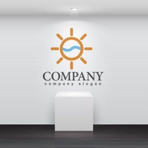 画像2: 太陽・水・波・梶・ロゴ・マークデザイン703