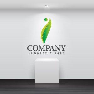 画像2: 葉・豆・曲線・人・ロゴ・マークデザイン736