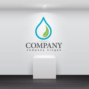 画像2: 水・葉・水滴・ロゴ・マークデザイン742