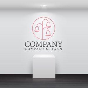 画像2: 花・輪・ベルフラワー・線・ロゴ・マークデザイン746